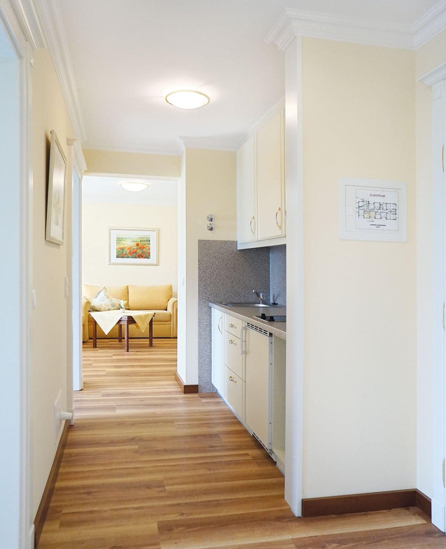 hotel vital vallaster garni bad füssing behindertengerechte suite küche